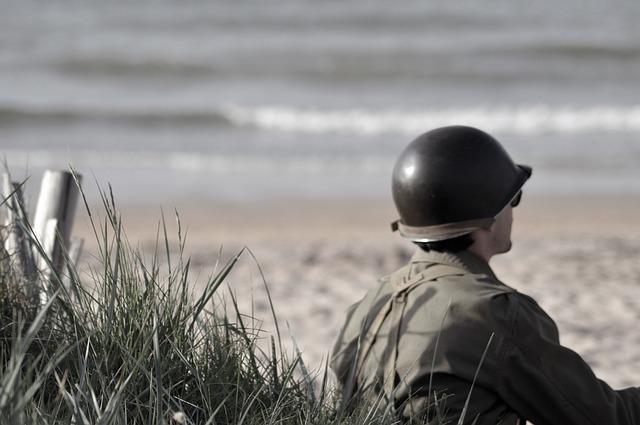 voják při odpočinku