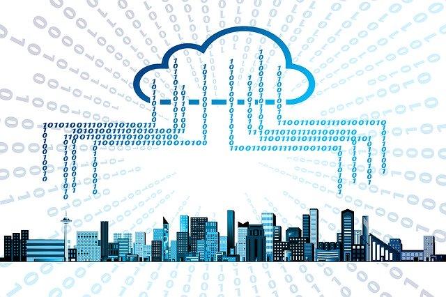 propojení lidí v oblaku dat